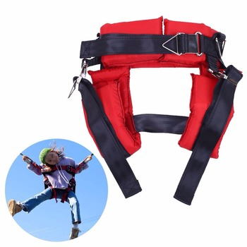 Heavy Duty Safty Bungee Seat Belt Adjustable Nylon Rope Car Adult Seatbelt Leash Padded Belts Jumping Protection Outdoor Tool