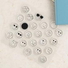 Горячая Улыбающееся Лицо прозрачный силиконовый штамп для DIY скрапбукинга/фотоальбома декоративные прозрачные штамп листы