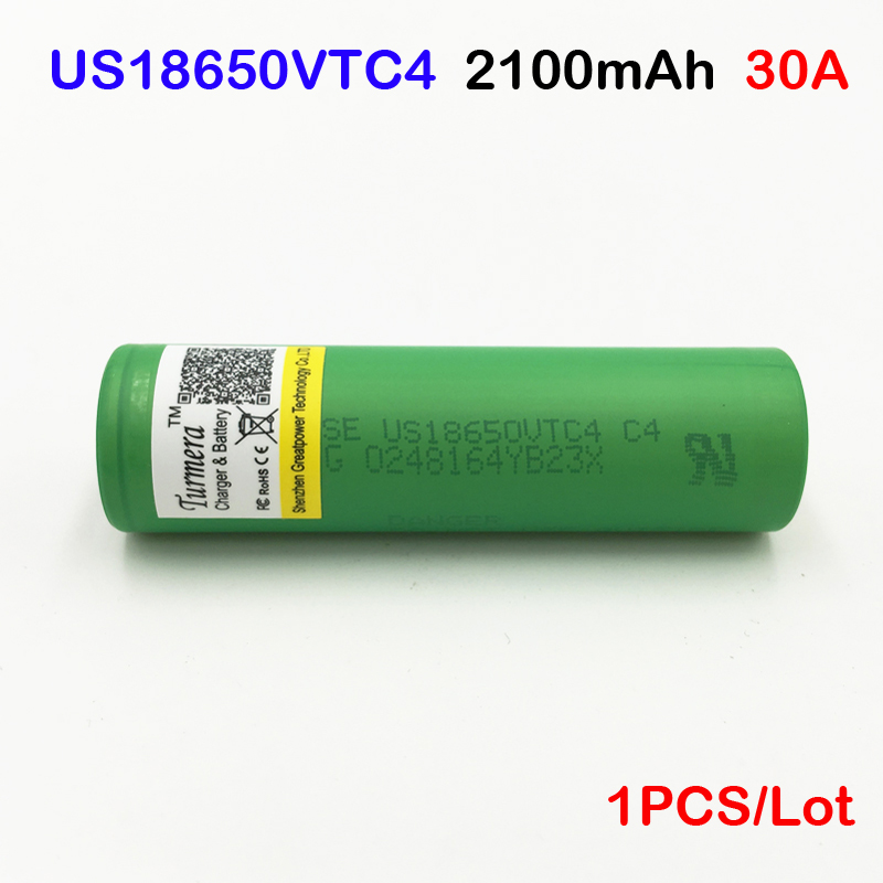 18650 box mod us18650vtc4 2100mah 30a US18650VTC4 With 30A