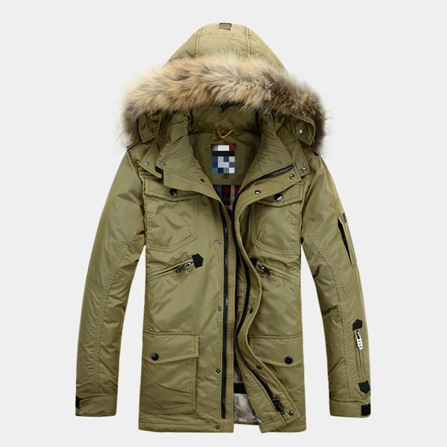 2017 novo fertilizante inverno para aumentar a jaqueta e longas seções Nagymaros gola masculino espessamento forro removível yd150