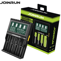 Joinrun S4 Li Ion 18650 Battery Charger With LCD Screen 18650 14500 16340 26650 AAA AA