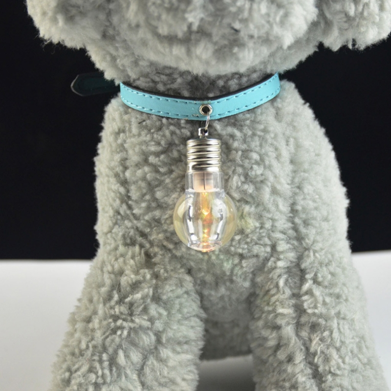 Pet Dog Harness Pendant Bulb Design Luminous Collar Puppy Cat Glow 7 Color Flashing Security Cachorro Harnesses Decor