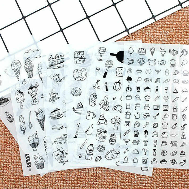 LOLEDE 6 stks/pak Classic Kawaii Style Huisdieren Graffiti Stickers Voor Notebook & Koffer Cool Laptop Stickers Skateboard Sticker