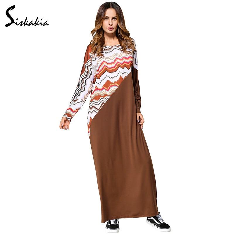 Siskakia Plus Size Dressing Gowns Women 2017 Autumn Ripple Printed