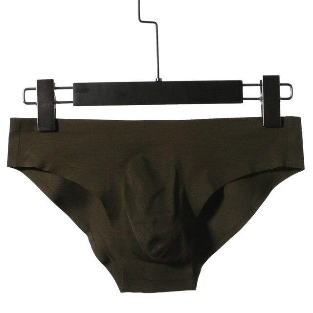 סקסי תחתוני גברים תחתוני מכנסיים קצרים מוצק מודאלי כותנה חלקה נמוך מותניים קמור פאוץ תחתוני cueca calzoncillo בתוספת גודל M-3XL