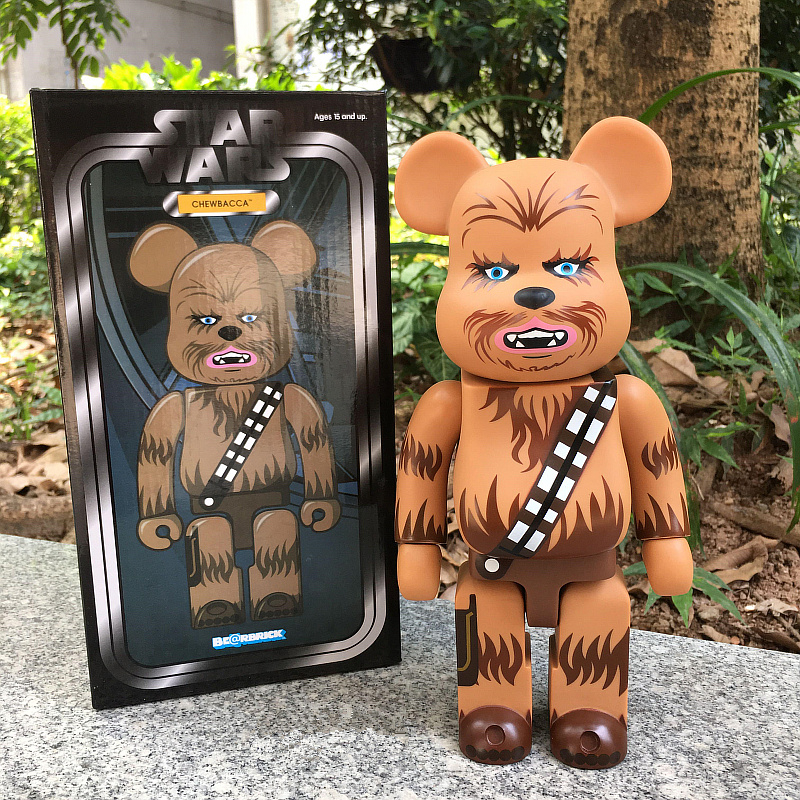 400% Bearbrick Cosplay Chewbacca Star Wars Be@rbrick PVC Action Figures Fashion Gifts Model Toys 28CM high quality oversize 52cm bearbrick be rbrick matt diy pvc action figure toys bearbrick blocks vinyl doll 3 color optional
