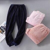 Fashionable Home Pants Women Men's Pajamas Pants Winter Sleepwear Plush Pijama Pants