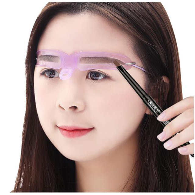 8 Kinds Reusable Eyebrow Stencil eyebrow ruler Cosmetics Eye Brow shape Mold Styling Shaping Template Card Makeup Beauty Kit 3