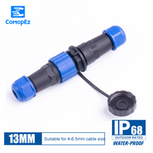 Waterproof Connector SD13 Type 1/2/3/4/5/6/7Pin IP68 Cable Connector Male Female Docking Aviation Plugs&socket Butt Joint 13MM