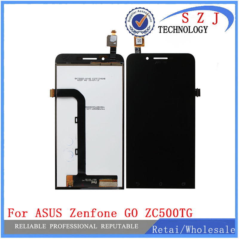 New 5 inch case Full Touch Screen Digitizer Glass+ LCD Display Assembly For Asus ZenFone Go 5.0 Dual ZC500TG Z00VD Free Shipping black new original lcd display touch screen digitizer replacement assembly with tools for htc desire 500 free shipping