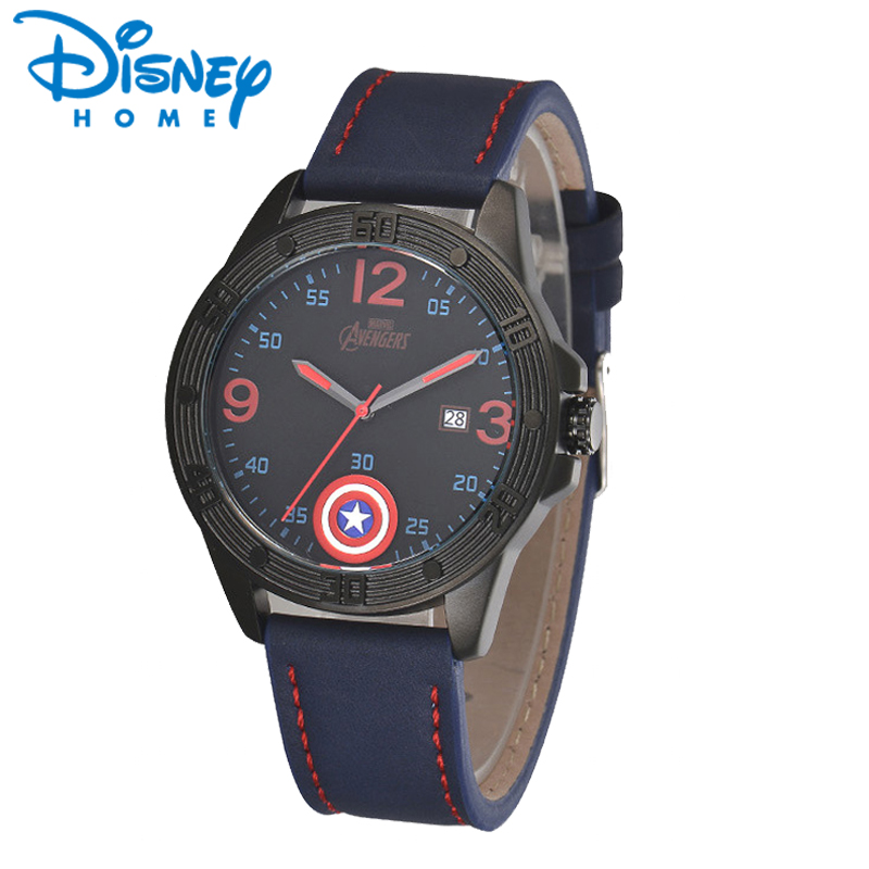где купить DISNEY Fashion Men Wristwatches Top Brand Luxury Quartz Wrist Watches Men  Leather Sports Watch for Man Hodinky Male Clock Reloj по лучшей цене