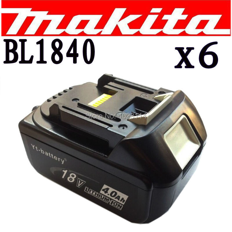 6 X New For Makita 18V Compact Lithium Ion Battery BL1840 BL1830 4000mAh6 X New For Makita 18V Compact Lithium Ion Battery BL1840 BL1830 4000mAh