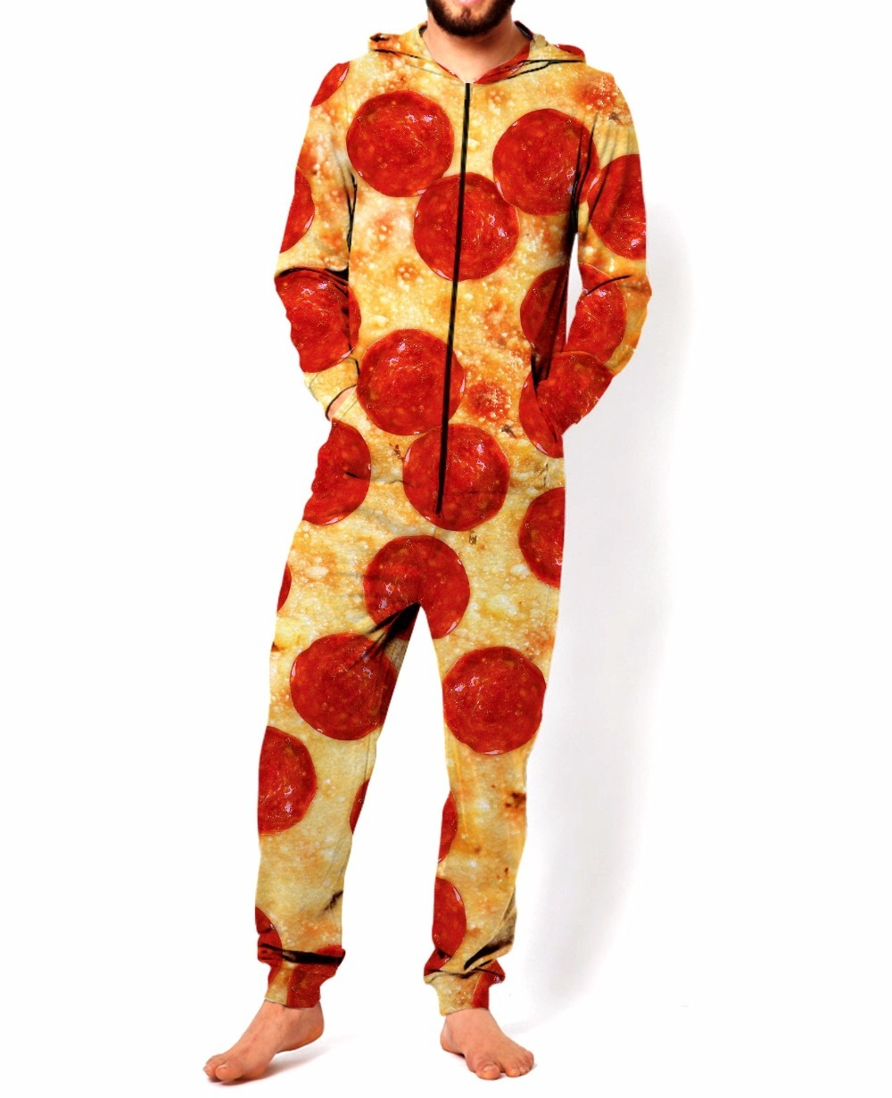 Primavera Autunno Unisex Pizza Ponticello 3D Pieno Stampato Grafici Pizza Zip-Up Tuta Felpa A Maniche Lunghe Con Cappuccio Pullover S/M/L