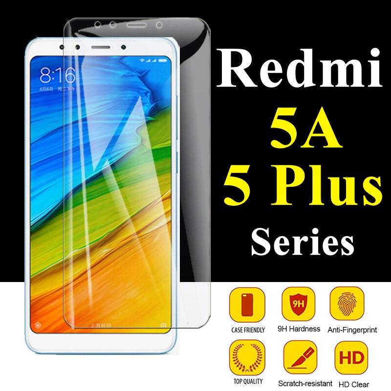 Vitre de protection sur ksiomi Redmi 5 plus protection décran pour Xiaomi Redme 5a Xiomi 5 plus Film armure Mi5 Xaomi trempé rouge Mi A5