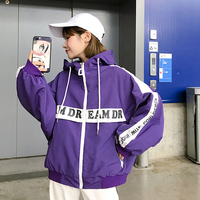 Hong Kong style short coat female spring and autumn 2018 new Korean students Harajuku loose hip hop baseball clothing tide