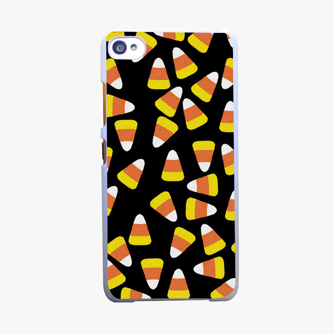 10701A Candy Corn <font><b>Jumble</b></font> Hard White Cover Case for Lenovo S850 S90 S60 A536 T A328T