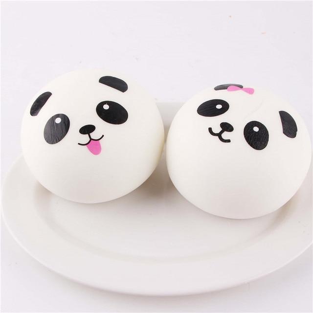 Bekker Jumbo Bun Squishies Slow Rising Panda Squshy Kawaii Squishy Toys Cream Scented Squishies