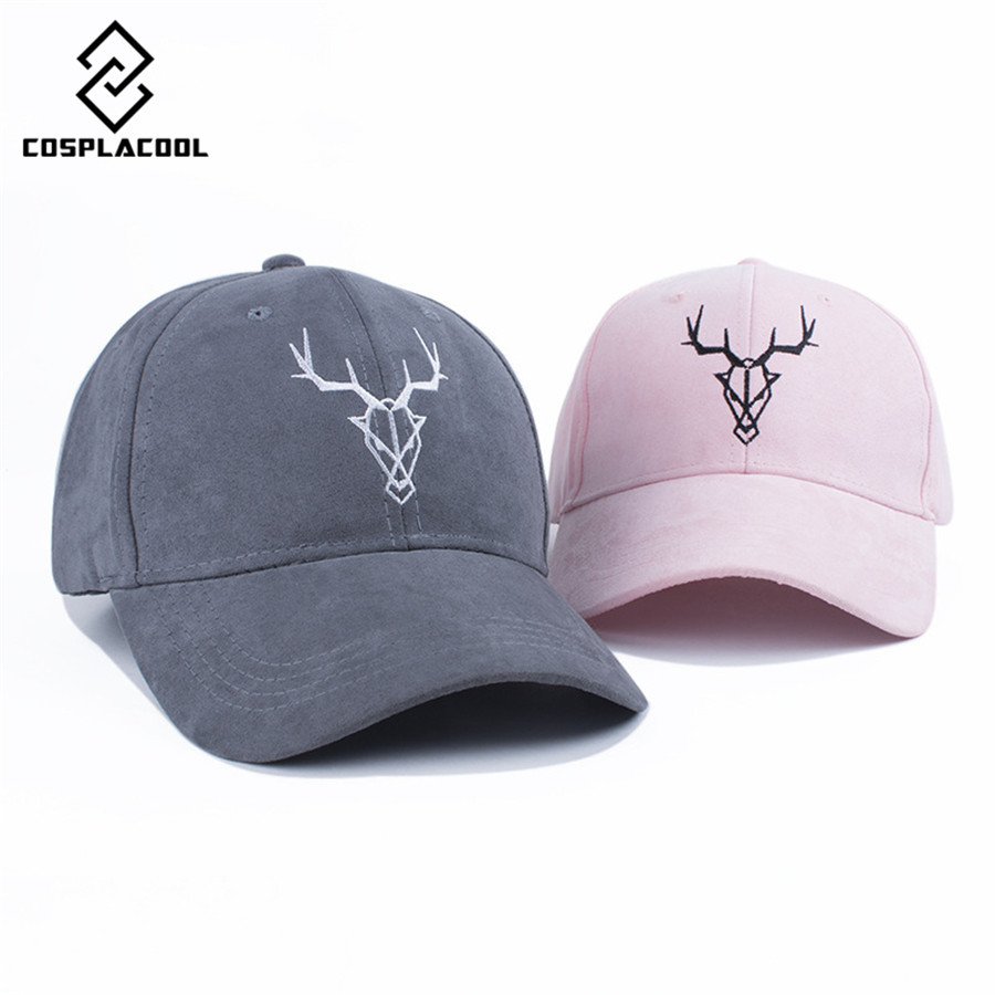 [COSPLACOOL] Fashion four seasons baseball hat moose head embroidery baseball cap fashion sun hat cap