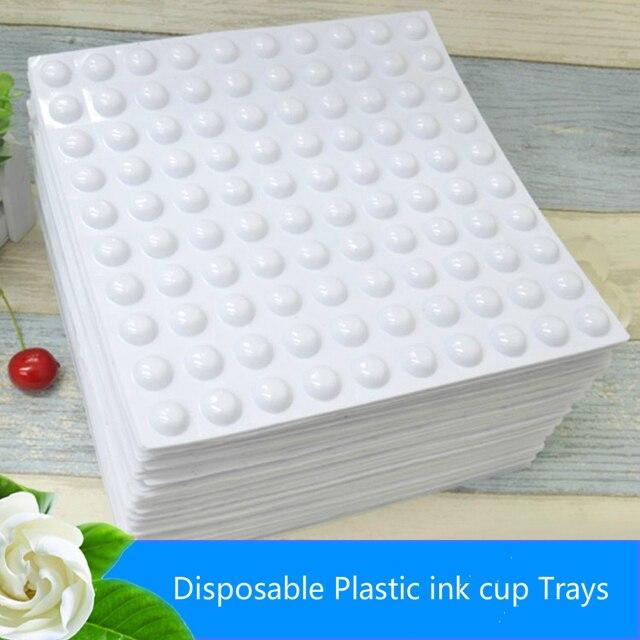 Cheapest 10 sheets 1000pcs permanent makeup disposable plastic white ...