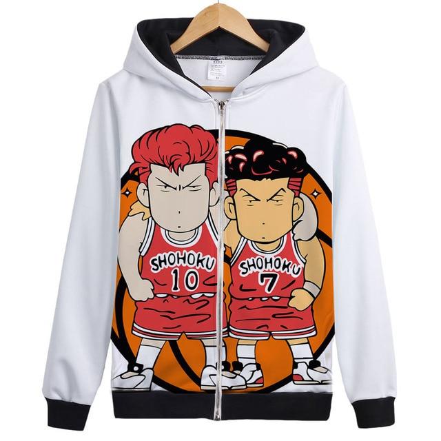 f56b90c34cd SLAM DUNK hoodies Shohoku Sakuragi Rukawa Hanamichi Sakuragi Anime Cosplay  brother Sister Team Play Jacket Coat hoody