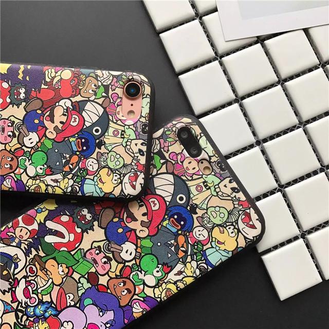 Super Mario Collage iPhone Case