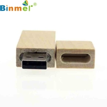 Top Quality 1PC 16GB Long Wood High Speed USB2.0 Flash Storage Drive Memory Stick Portable U-Disk For PC Notebook MAC MAY24