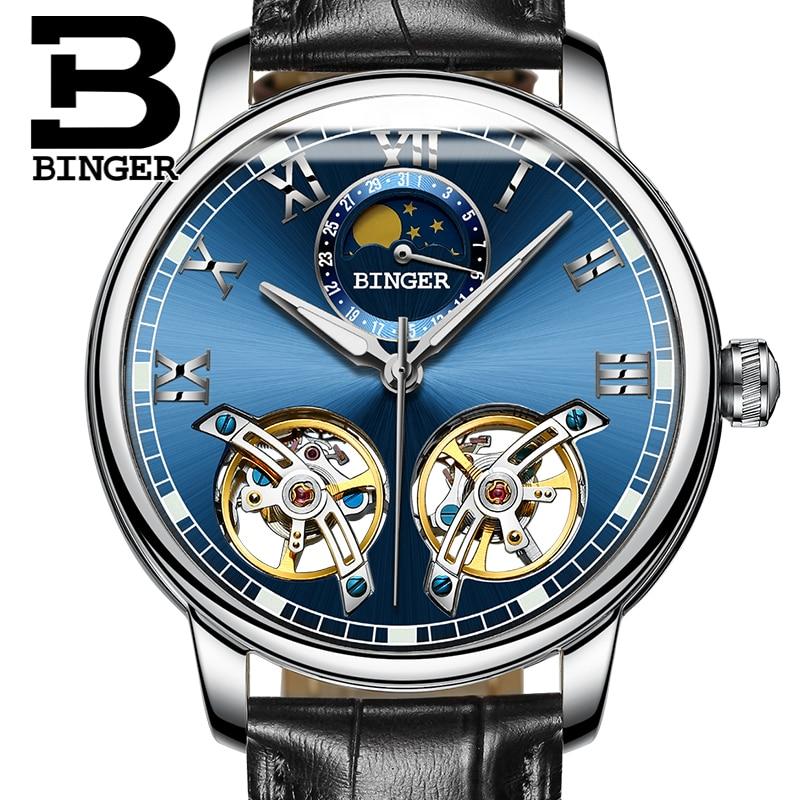 2017 NEW arrival men s font b watch b font luxury brand BINGER sapphire Water Resistant