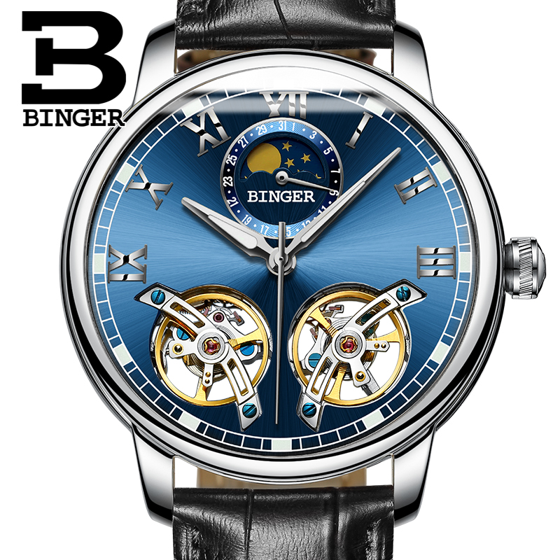 2017 NEW arrival men's watch luxury brand BINGER sapphire Water Resistant toubillon full steel Mechanical Wristwatches B-8607M-8 switzerland watches men luxury brand binger sapphire water resistant toubillon full steel mechanical wristwatches b 8607m 8