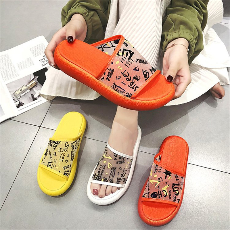 HEEGRAND Women Summer Slippers Thick Bottom Graffiti Mesh Breathable Flip Flops Flat Outdoor Beach Sandals Ladies Shoes XWZ6008HEEGRAND Women Summer Slippers Thick Bottom Graffiti Mesh Breathable Flip Flops Flat Outdoor Beach Sandals Ladies Shoes XWZ6008
