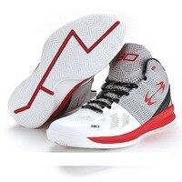 Nueva Alta superior Baloncesto sneakers hombres Niños tamaño 41-45 auténtico Baloncesto cuero negro azul Zapatillas de baloncesto entrenadores AA