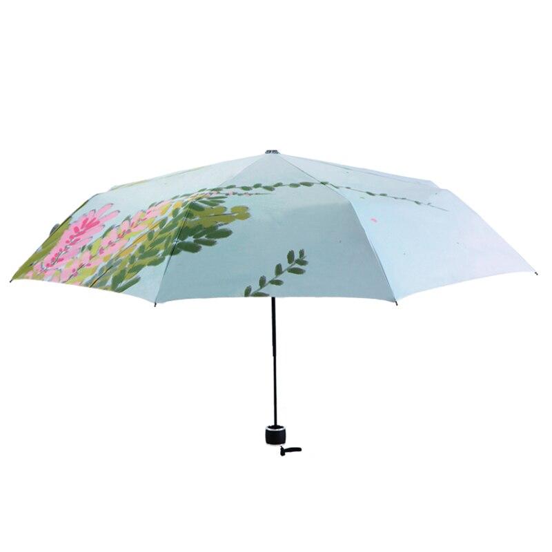 Svježe Ilustracija Drvni list Kišica Lady Kišni suncobran 3 - Kućanski robe - Foto 3