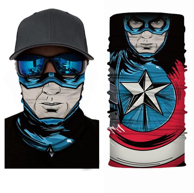 3D Captain America Balaclava Bicycle Bike Hats Snowboard Tiger Party Halloween Helmet Liner Winter Warmer Pet Full Face Mask