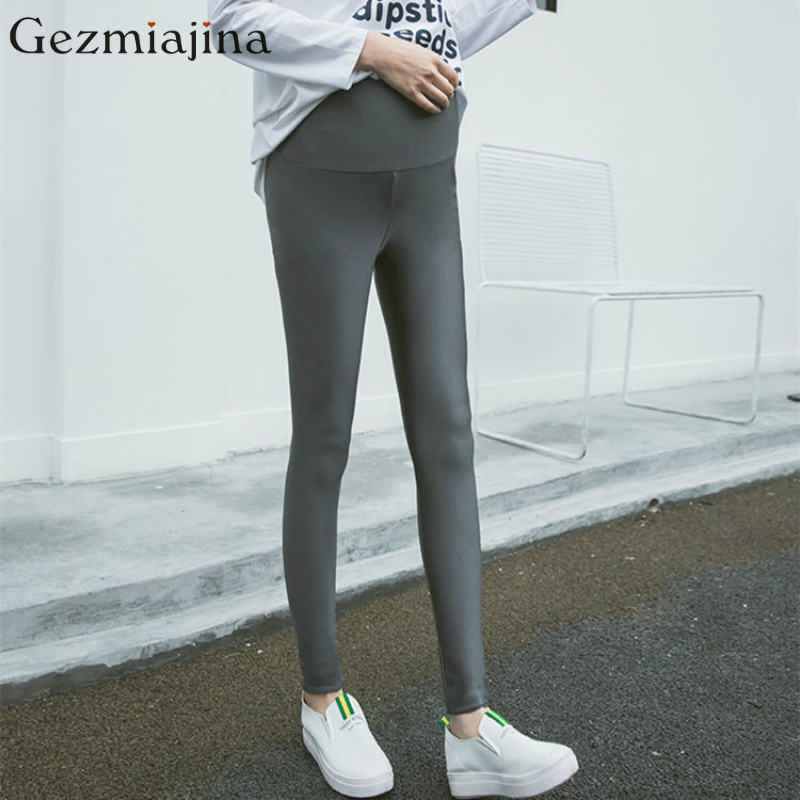 47b7b13798860 Fashion Maternity Leggings spring autumn pregnancy wear gloss pants belly  support high elastic trousers for pregnant women-in Leggings from Mother &  Kids on ...