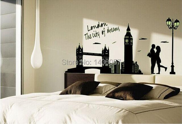 Posters Per Camera Da Letto : Set classico adesivo luminoso big ben amante poster da parete