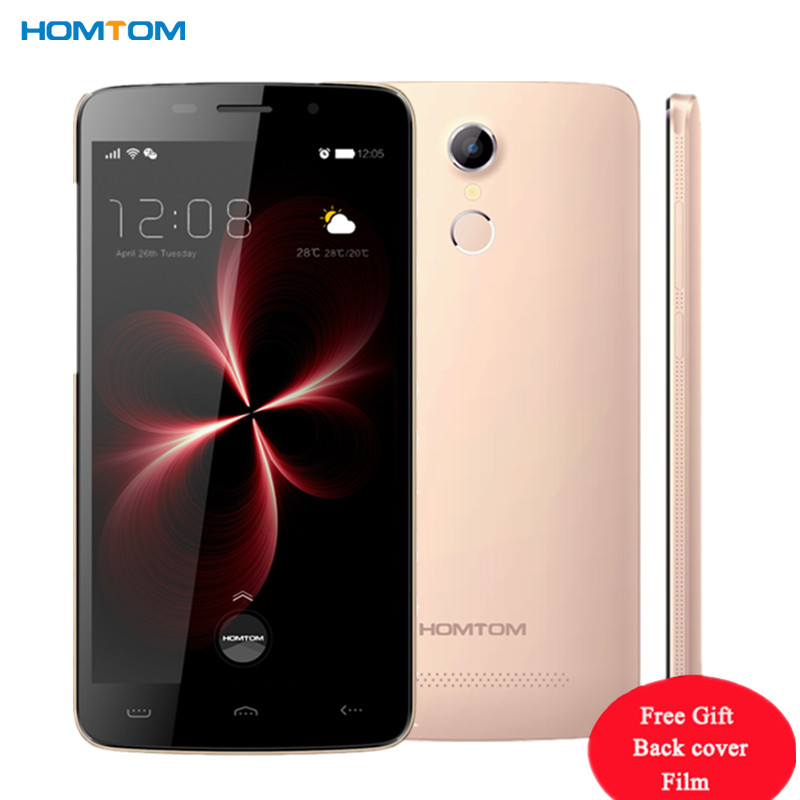 Original Homtom HT17 MTK6737 Quad Core Cellphone Android 6.0 1G RAM 8G ROM Mobile Phone 5.5 HD 4G LTE FingerID Smartphone