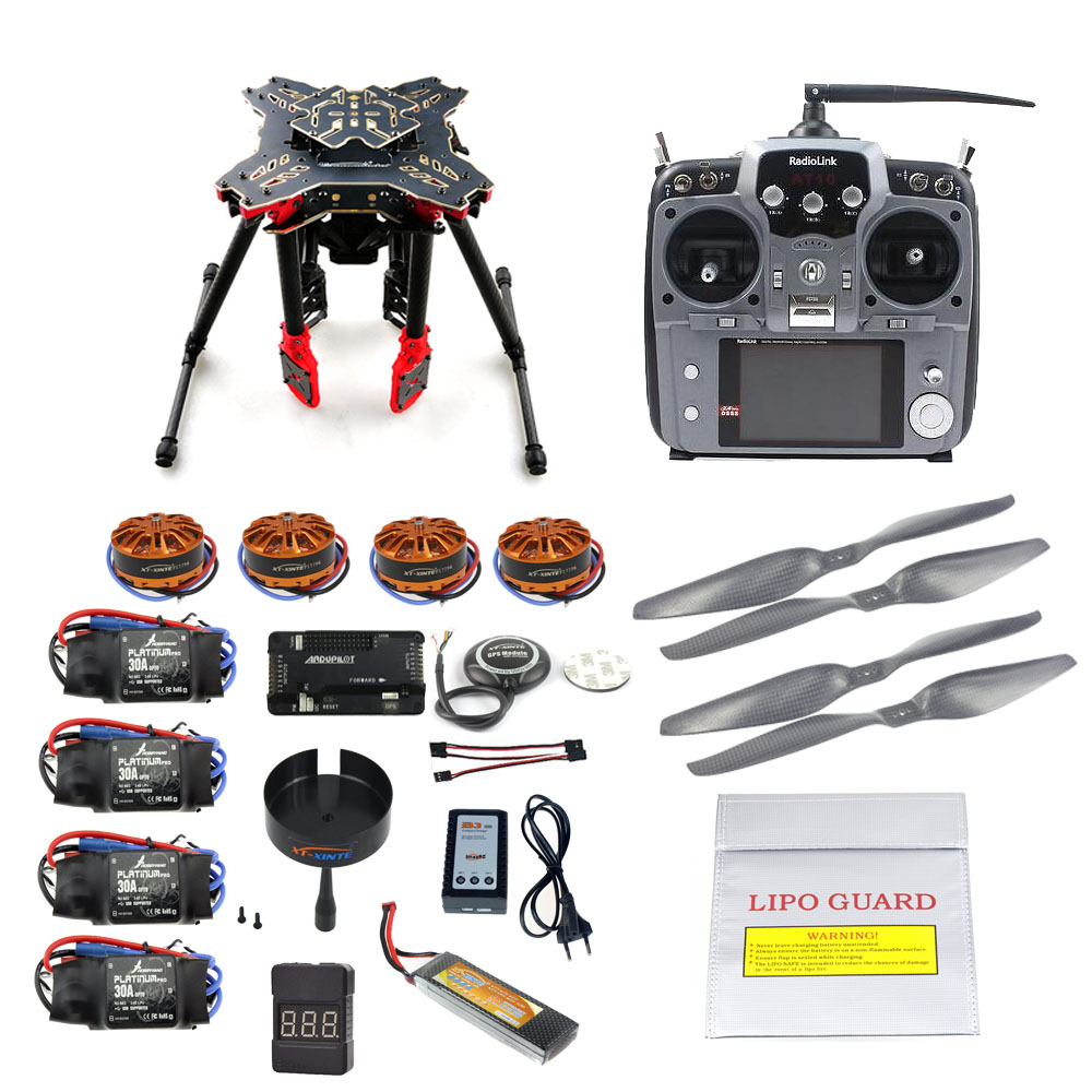 JMT DIY GPS Drone RC Quadcopter HMF U580 Totem Series APM2.8 Flight Control 700KV Motor 30A ESC Radiolink AT10 TX&RX Full Set diy fpv mini drone qav210 zmr210 race quadcopter full carbon frame kit naze32 emax 2204ii kv2300 motor bl12a esc run with 4s
