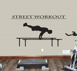 Image 1 - Fitness enthusiast exercise fitness vinyl wall stickers gym youth school dormitory bedroom home decoration wall decal 2GY1
