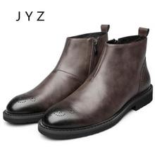 Fashion New Mens Hightops Dress Shoes Zip Ankle Boots Autumn Winter Shoe Vintage Man men0030