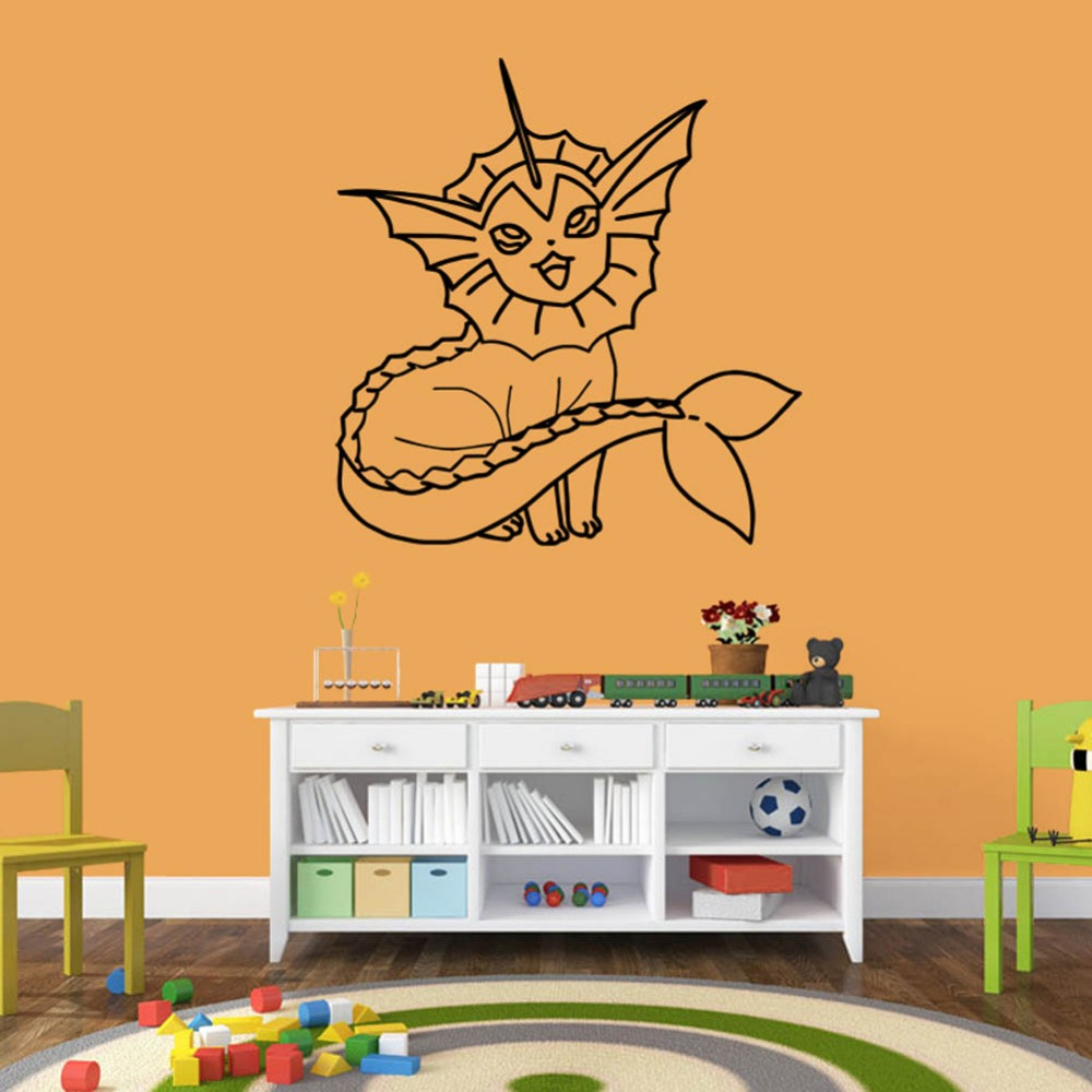 55 57cm Pvc Pokemon Wall Sticker 0200 Bedroom Decor Removable Waterproof Diy Child S Art Craft