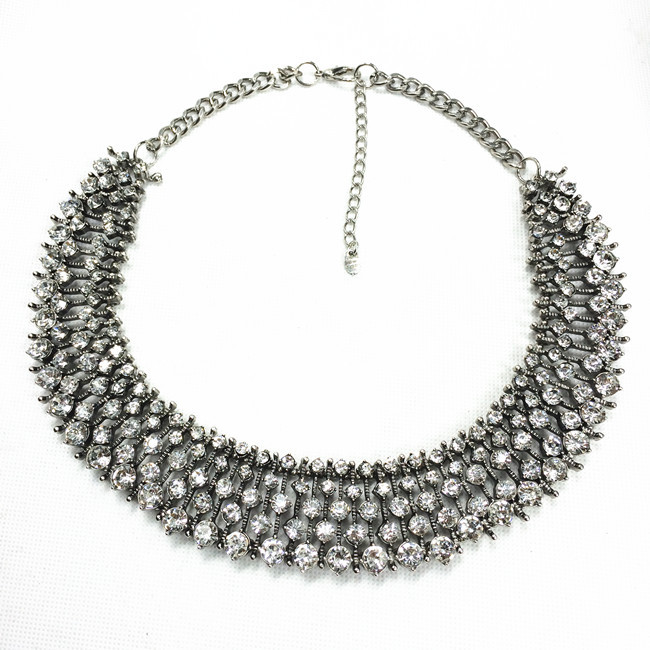 Luxury Crystal Choker Collar Necklace Women Fashion Jewelry Rhinestone Vintage Statement Necklaces Pendants Party - ChinaJewelry store