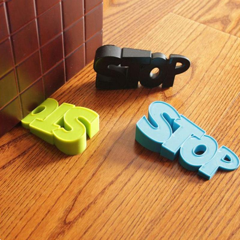 novelty door stopper silicone stop pattern stop door stopper holder safety lock baby protect d326b