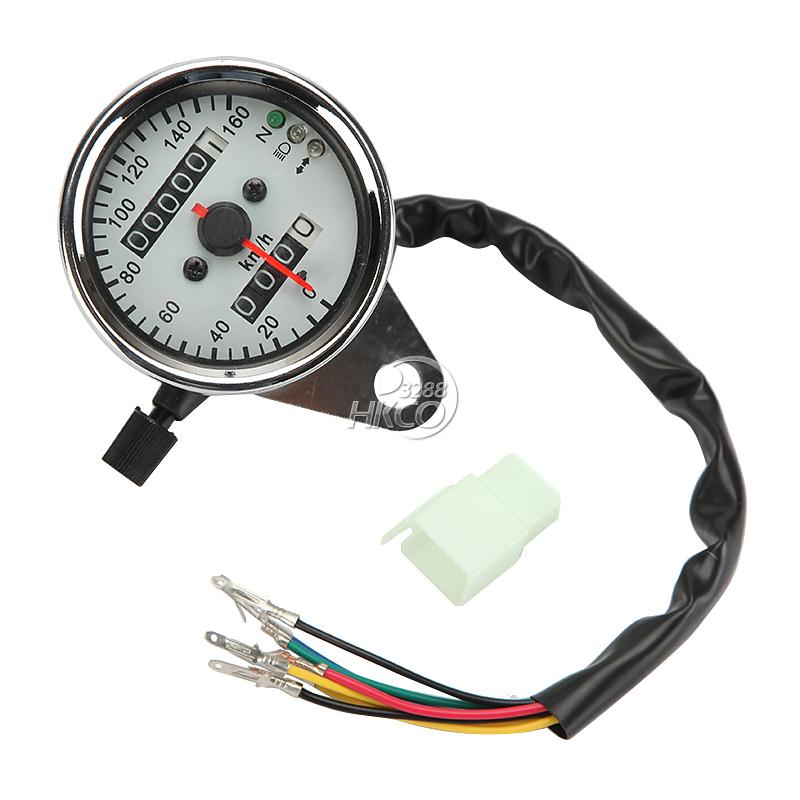 0 ~ 160 km / h Motorcycle Backlit Dual Speedometer