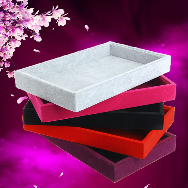 New Stackable Jewelry Trays Inserts Velvet Catch All Jewelry Display Tray Case