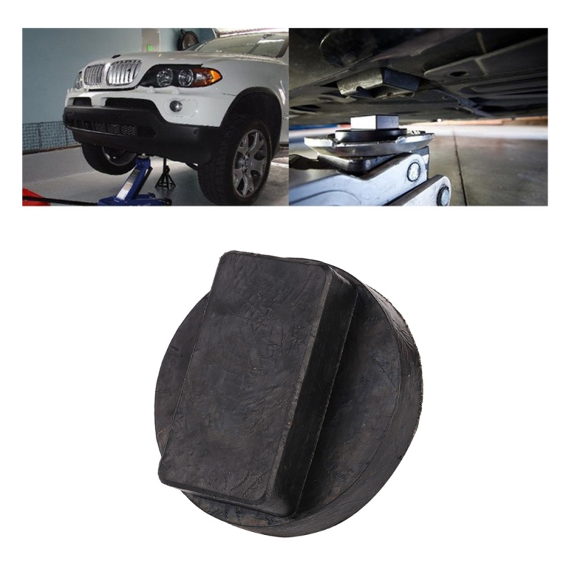 Car Jack Pad Rubber Disc Pad Auto Vehicle Weld Jacking Lifting Disk Frame Protector Rail Floor Slotted Car Jack Guard Tool New