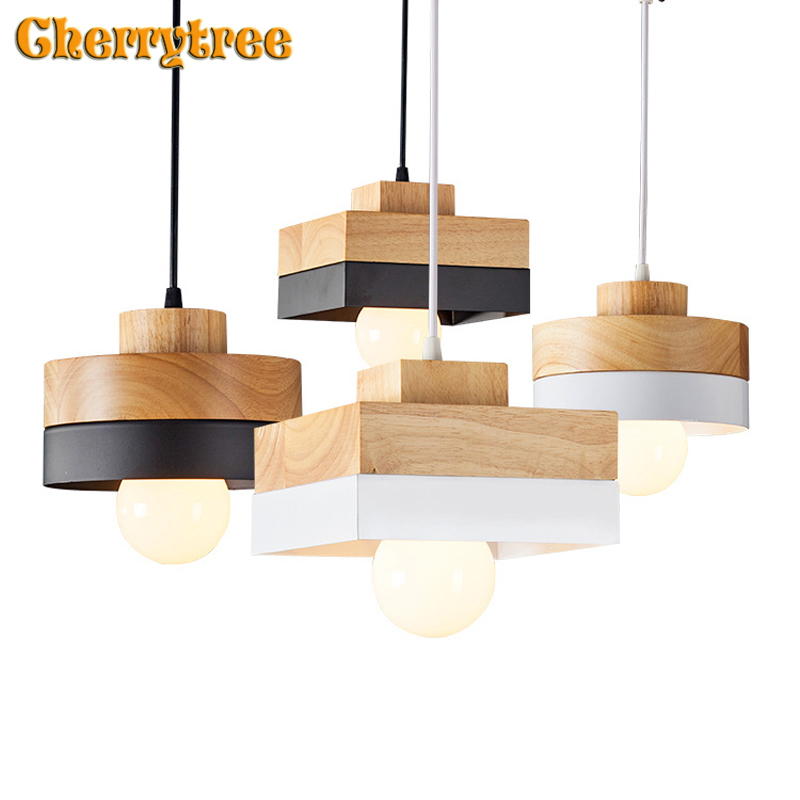 Modern pendant light pendant lamp vintage hanging nordic design loft lamp wood rope dining room kitchen home deco light fixtureModern pendant light pendant lamp vintage hanging nordic design loft lamp wood rope dining room kitchen home deco light fixture