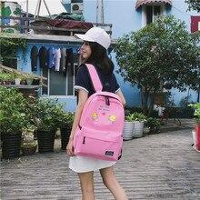 2019 New Oxford Preppy Style Pink backpack women bookbag Korean cute cartoon kawaii schoolbag bag pack for teenager boys girls