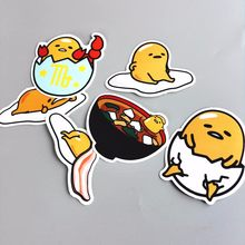 6Pcs/Lot Novelty 2019 Gudetama Lazy Egg Cartoon Funny Sticker For Car Laptop Bicycle Luggage Waterproof Decal Stickers(China)