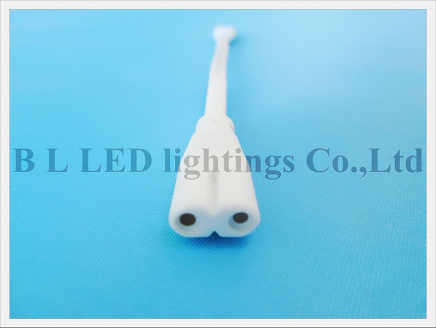 wholesale led wire cable connector for LED tube fixtures and other LED lights T8 / T5 20cm 2 pin 2 plug 100V-300V