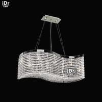 Chandeliers Lead crystal glass lamps modern restaurant lights, modern rooms L90cm x W30cm x H30cm