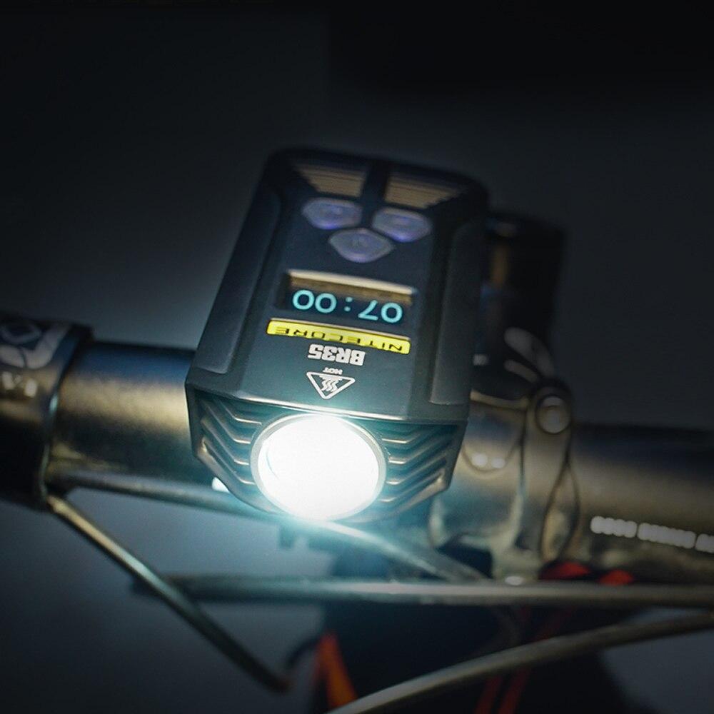 Топ продаж Nitecore BR35 1800 люмен 2x CREE XM L2 U2 встроенный Батарея пакет двойной расстояние луча Перезаряжаемые велосипед света для для верховой езды